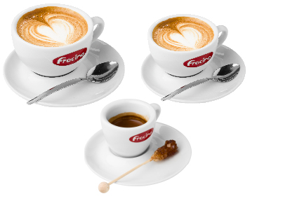 Cups & Saucers Commercial Cappuccino Coffee & Espresso Machine